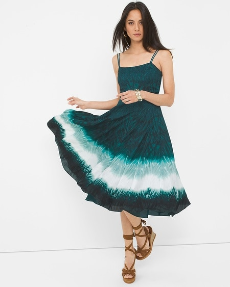 Dip Dye Fit-and-Flare Dress