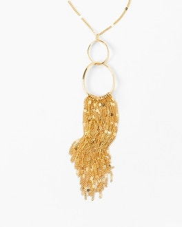 Fringe Hoop Pendant Necklace