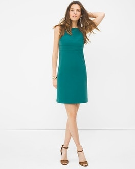 Seamed Shift Dress