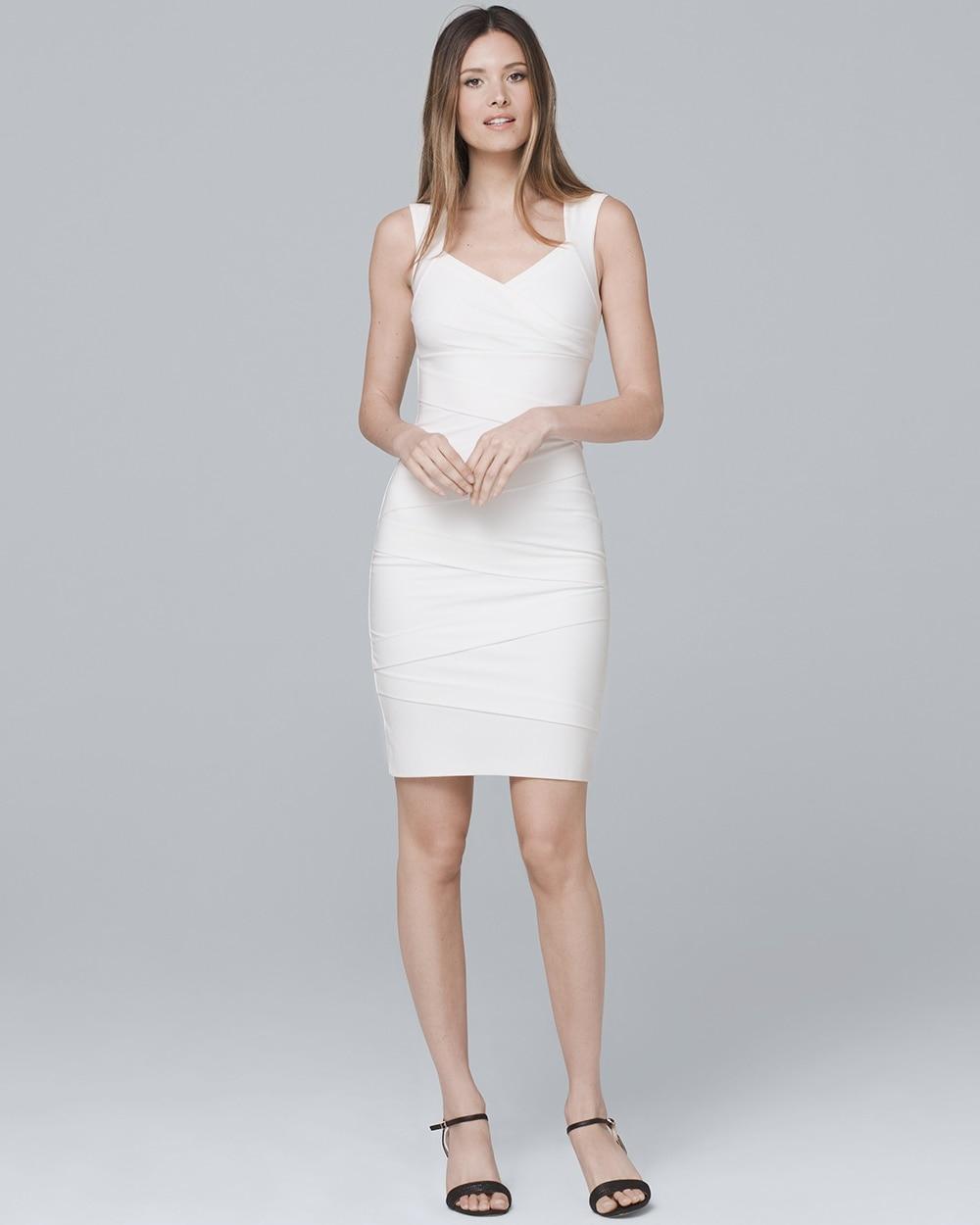 Instantly Slimming White Tank Dress