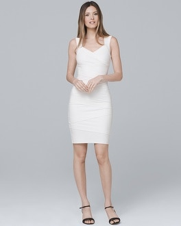 Tiered White Instantly Slimming Dress