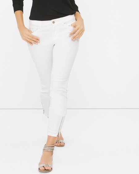 Curvy White Skinny Crop Jeans