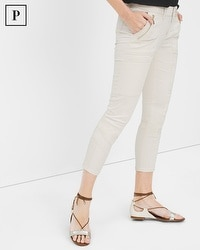 Petite Skinny Crop Jeans with Utility Details