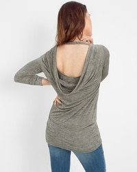 Drape-Back Tunic