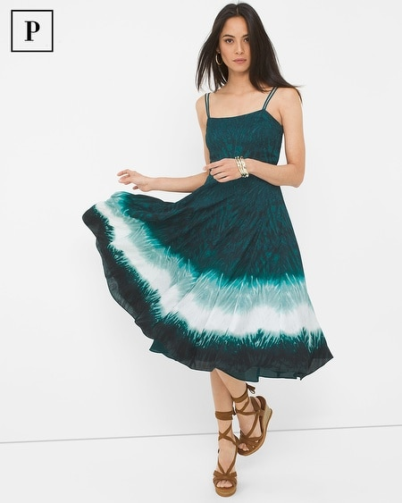 Petite Dip Dye Fit-and-Flare Dress