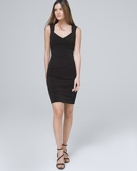 Tiered Black Instantly Slimming Dress