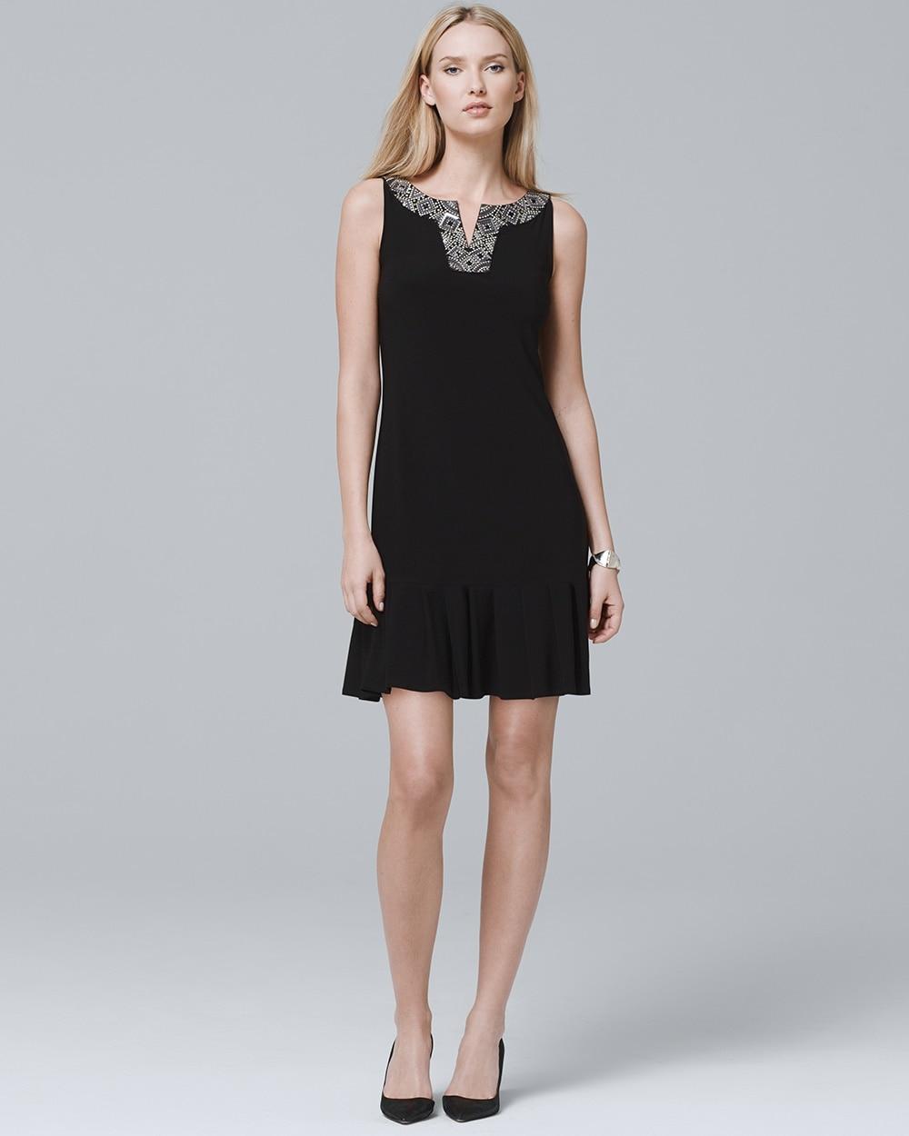5c5b97c8c Embellished Pleat-Hem Dress - White House Black Market