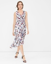 Floral Stripe Wrap Sundress