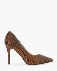 Olivia Leather Exotic-Print Pumps