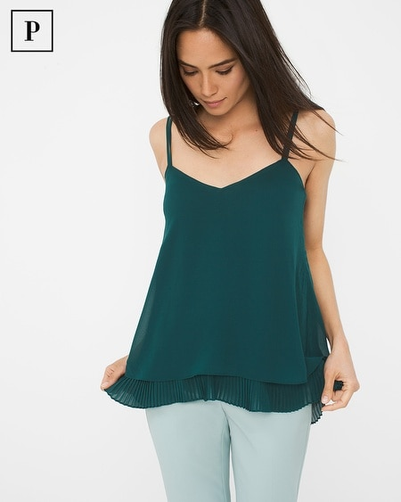 Petite Pleated Layer Cami