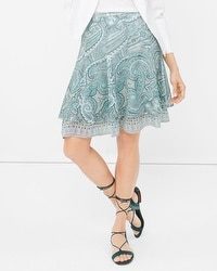 Paisley Print Flirty Skirt