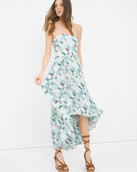 Printed High-Low Fit-and-Flare Dress