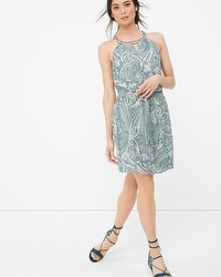 Paisley Print Blouson Dress