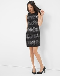 Textured Cutout Sheath Dress