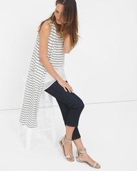 Sleeveless Stripe Duster Sweater