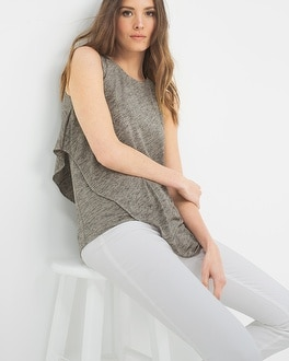 Drape-Overlay Knit Top