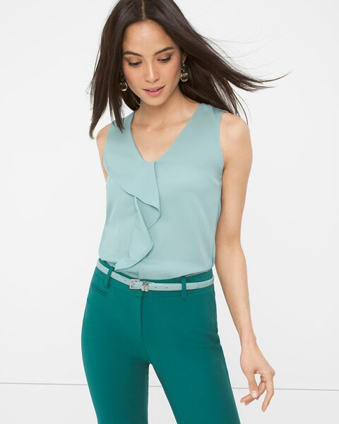 3e0f9c1fef2 Sleeveless Ruffle Top