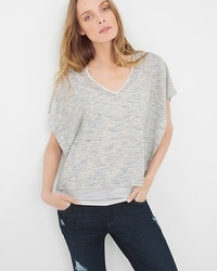 Dolman Layered Spacedye Top