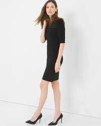 Tiered Shadow Stripe Dress
