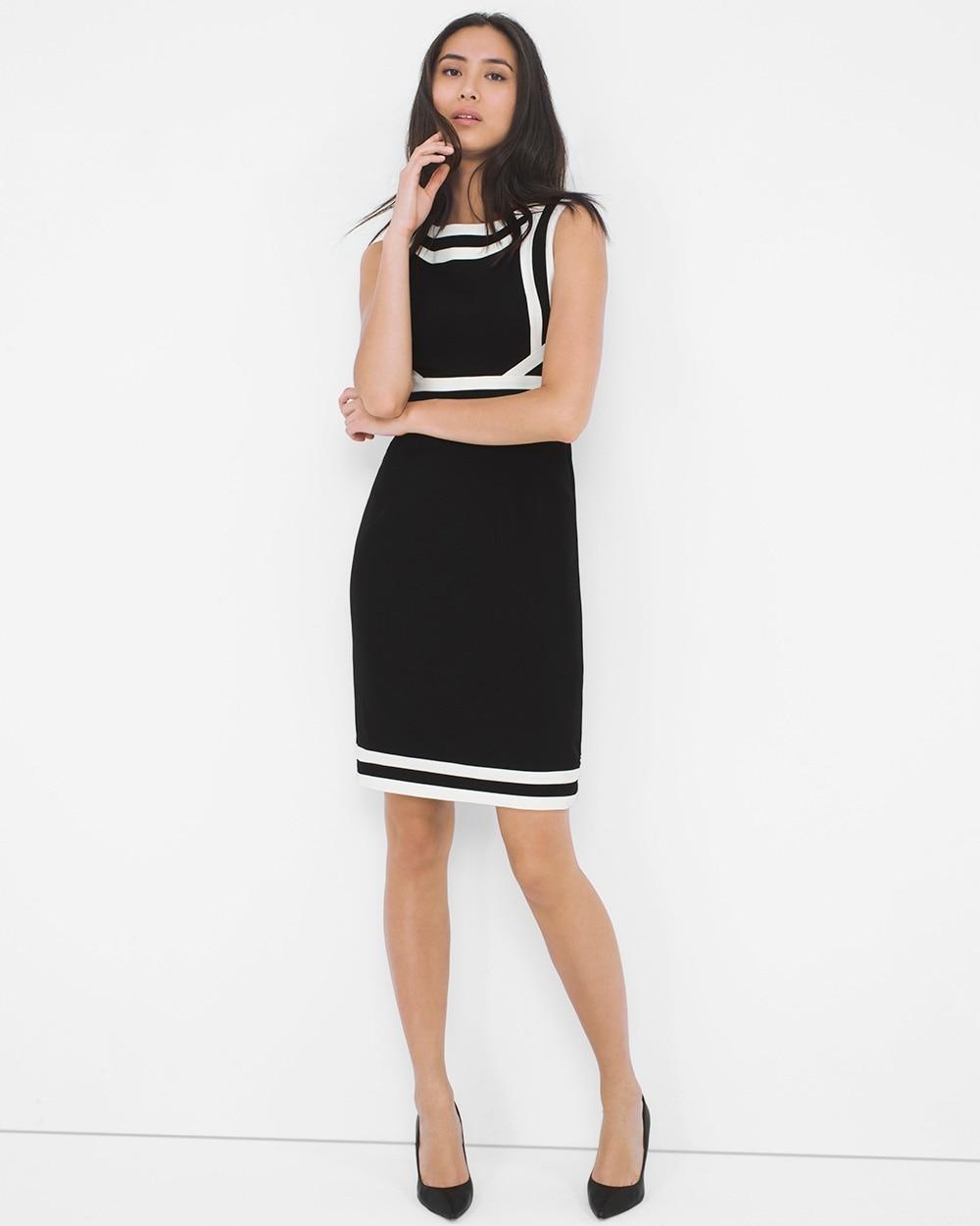 finest selection shopping skate shoes Contrast Sheath Dress - Shop Women's Work Attire & Professional ...