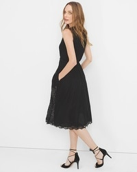 Lace Applique Fit-and-Flare Dress