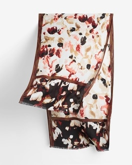 Abstract Floral Oblong Scarf