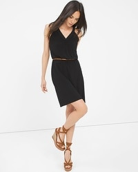Braided Halter Black Minidress