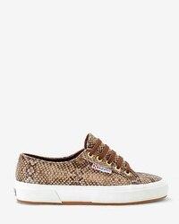 2750 Superga Snake-Print Sneakers