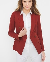 Cinnamon Linen-Blend Trophy Jacket