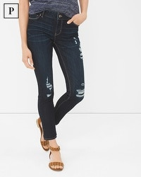 Petite Distressed Skinny Crop Jeans