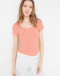 Soft Touch Scoop Neck Tee