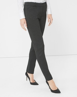 Herringbone Slim Ankle Pants