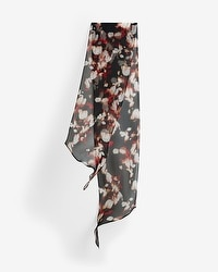 Abstract Floral Skinny Scarf