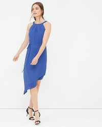 Braided Halter Asymmetric Dress
