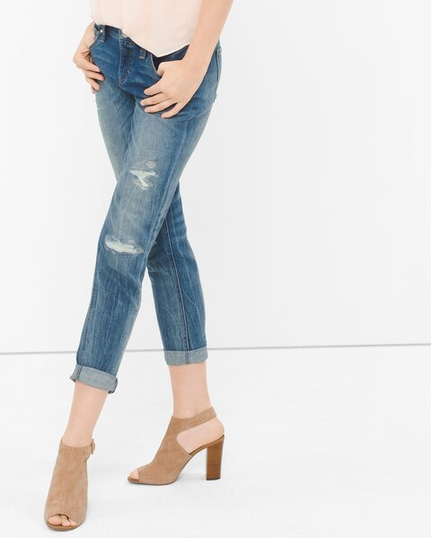 9f5372e4a50ff Return to thumbnail image selection Distressed Girlfriend Jeans video  preview image, click to start video