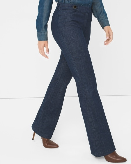 Curvy Trouser Flare Jeans