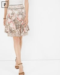 Petite Floral Print Tiered Skirt