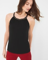 Hardware-Detail Halter Top