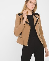 Colorblock Moto Jacket