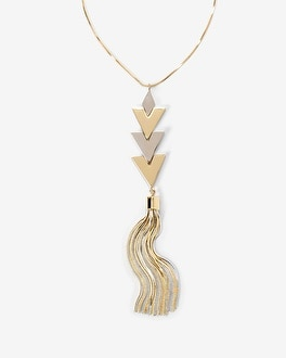 Tassel Detail Pendant Necklace