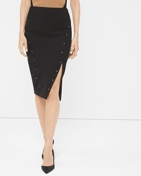 Studded Pencil Skirt