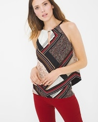 Printed Layer Halter Top