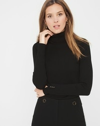 Pointelle-Detail Turtleneck