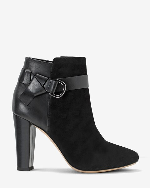Chunky Heel Ankle Boots - White House