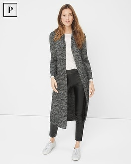 Petite Spacedye Knit Duster