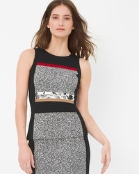 Colorblock Print Bodice Top