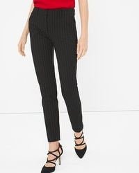 Premium Bi-Stretch Slim Pinstripe Pants