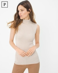 Petite Turtleneck Sweater Tank