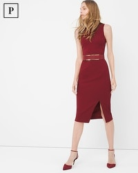 Petite Mockneck Sheath Dress