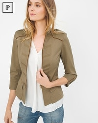 Petite Crop Military Jacket